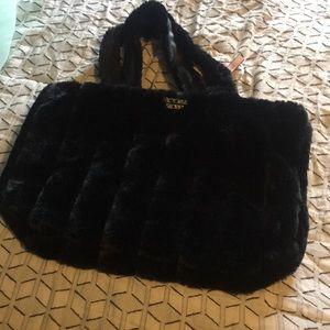 Victoria secret large furry tote